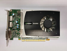 NVIDIA QUADRO 2000 1gb GDDR 5 GFX CARD PCI-E x16 DVI Dual Display Port-Argento