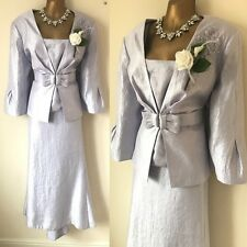 GINA BACCONI SKIRT SUIT JACKET SIZE 18 Lilac Mother Of The Bride Occasion.