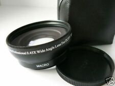 BK 58mm 0.45X Wide-Angle Lens For Canon VIXIA LEGRIA HF G10 S30 32GB G20 G25