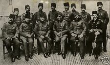 "Liman Pasha & Staff Ottoman Turkish Army World War 1, 7x4"" Photo Reprint 1"