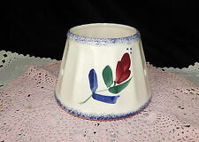 HAND PAINTED LARGE CERAMIC PORCELAIN LAMP SHADE FOR YANKEE CANDLE~LEAD FREE