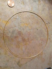 """14 KT Yellow Gold Silver Neck Wire Omega Collar Necklace 1.2 mm 16""""  NEW"""