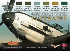 LifeColor German WWII Luftwaffe Set 1 (22ml x 6)