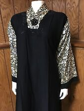 Beautiful Khaleeji Embellished Abaya Muslim Jilbab With Hijab Dubai Size L 58