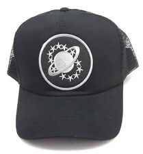 GALAXY QUEST Grey Logo Trucker Style Baseball Cap/Hat- BLACK- FREE S&H
