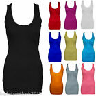 LADIES GIRLS BODYCON STRETCH RIBBED STRAPPY STRING VEST WITH POCKET TOP T-SHIRT