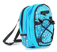 "Teal Sequin Backpack for 18"" American Girl Doll Back-To-School Accessories"