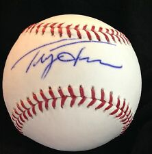 Tracy Jones signed auto ball Cincinnati Reds OMLB Giants Expos Tigers Mariners