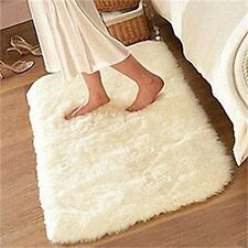 US Soft Fluffy Rugs Anti Skid Shaggy Rug Dining Room Bedroom Carpet Floor Mat