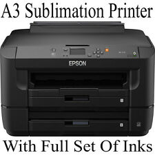 A3 EPSON PRINTER SET UP FOR DYE SUBLIMATION WITH REFILL CARTRIDGES INK BUNDLE