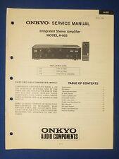 ONKYO A-803 INTEGRATED AMP SERVICE MANUAL FACTORY ORIGINAL ISSUE THE REAL THING