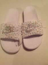 Womens Nib Nike Bling Slides size 12 Nike Shoes Swarovski Bling Shoes