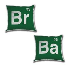 "NEW AMC Breaking Bad LOGO Table 12"" Plush Pillows SET TV Show Prop Br Ba Mezco"