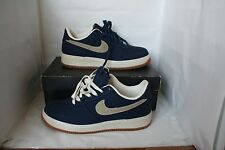 Nike Air Force 1 Low 25th Anniv Midnight Navy Deadstock Canvas Size 9 Supreme