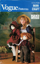 Vogue Pattern 9699 - Raggety Ann and Andy Dolls - 22in Tall