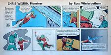 Chris Welkin Planeteer by Art Sansom - scarce Sunday comic page - June 1, 1958