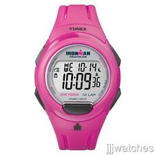 New Timex Women Ironman 10 Lap Chrono Pink Watch  40mm  T5K780
