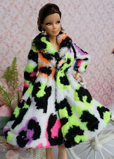 Lovely Fashion Winter fur Coats Clothes/Outfit For Barbie Doll C-u03