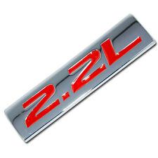 CHROME/RED METAL 2.2L ENGINE RACE MOTOR SWAP EMBLEM BADGE FOR TRUNK HOOD DOOR
