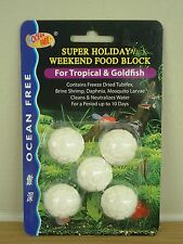 Vacation holiday food with minerals for tropical and marine fish -  5 block clam