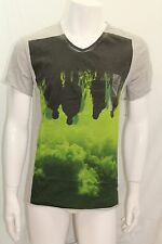 Calvin Klein Men's Brand New T-Shirt V-Neck S-Sleeve Gray Small New Print NWOT