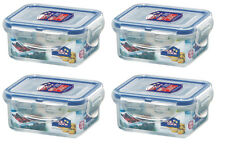 4 x Lock & Lock 180ml Rectangle Food Storage Containers Extra Small Box Plastic