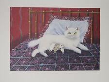 """""""Le chat et ses chatons"""" Lithographie de Mady de La GIRAUDIERE"""
