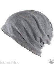 Grey Beanie Baggy/Slouchy Skull Cap,Stretchable
