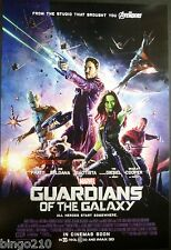 GUARDIANS OF THE GALAXY ORIG 2014 1 SHEET POSTER MARVEL CHRIS PRATT ZOE SALDANA