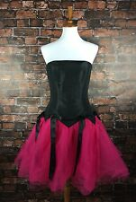 Sz 10 Betsey Johnson Prom Party Dress Pink Tulle Tutu Punk Gothic Formal $398