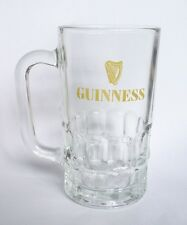 "GUINNESS STOUT BEER Vintage 5""  MUG Handle Clear GLASS MALAYSIA 90's RARE Asia"
