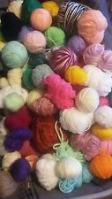 MIxed LOT 1500g of yarn in assorted colours ODDMENTS Craft project