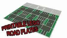 "LEGO 11""x17"" Printable Road Plate Parking Lot Dark Gray PDF on CD New style"