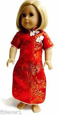 """Red Asian Dress made for 18"""" American Girl Doll Clothes"""