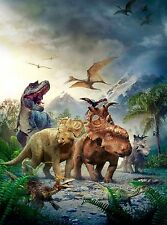 WALKING WITH DINOSAURS KIDS IMAGE  A4 Poster Gloss Print Laminated