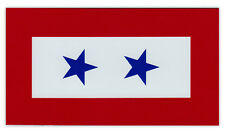 Magnetic Bumper Sticker - Blue Star Service Flag - 2 Stars - Military Service