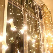 Day Warm white 3M x 3M 300LED in& Outdoor christmas String Wedding Curtain Light
