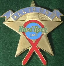 """Hard Rock Cafe 1990s AIDS Ribbon GOLD STAR & RIBBON """"ALL IS ONE"""" PIN - HRC #3436"""