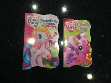 MY LITTLE PONY hardcover board coloring books lot of 2 paint board books
