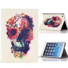 Flower Skull Flip Stand Leather Case Cover For iPad Mini 1 2 3 Retina Elegant