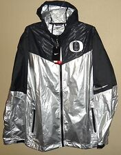 NWT XXL NIKE OREGON DUCKS FOOTBALL TEAM VELOCITY SWEATLESS JACKET $150 CHROME