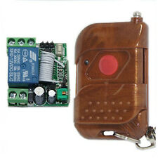 RF DC12V 1 Channel Wireless Remote Control Momentary Switch Receiver +Controller