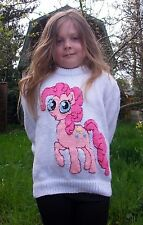 Chicas Jumper Tejer patrón, mi pequeño pony.