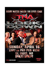 Official TNA Impact Wrestling 38 x 24 inch Lockdown 2010 PPV Poster