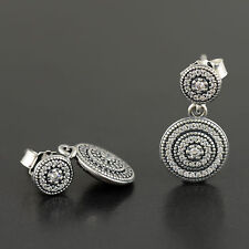 Authentic Genuine Pandora Sterling Silver Radiant Elegance Earrings - 290688CZ