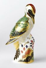 New Royal Crown Derby 2nd Quality Green Woodpecker Paperweight