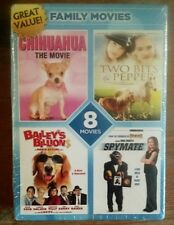 8 Movie Family Pack (DVD, 2012, 2-Disc Set) Brand New Factory Sealed