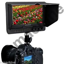 "Lilliput 7"" 665GL-70NP/HO/Y 665/O HDMI IN OUT camera field Monitor+F970 adapter"