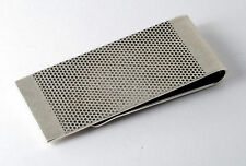 KENNETH COLE REACTION  SILVER TONE METAL TEXTURED FINISH  MONEY CLIP NWOT
