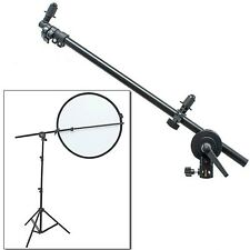 "PRO Studio Photo Holder Bracket Stand Swivel Head Reflector Arm Support 24""-66"""